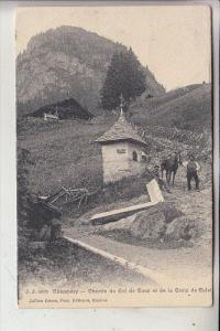 CH 1874 CHAMPERY, Chemin du Col de Coux et de la Croix de Culet, 1911