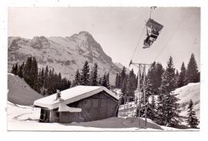 CH 3818 GRINDELWALD BE, Bergbahn Grindelwald - First, Eiger, 1953