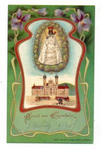 CH 8840 EINSIEDELN SZ, Gruss aus...1907, Schemm-Nürnberg, Jugendstilornamente