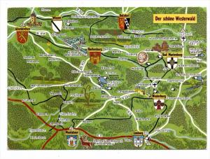 LANDKARTEN / MAPS - WESTERWALD