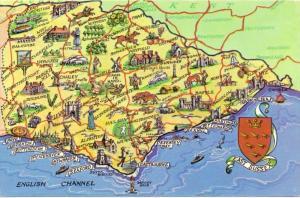 LANDKARTEN / MAPS - EAST SUSSEX