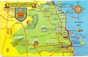 LANDKARTEN / MAPS - NORTHUMBERLAND