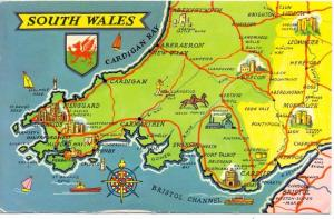 LANDKARTEN / MAPS - SOUTH WALES
