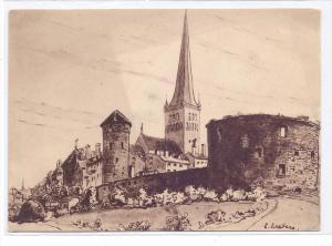 EESTI / ESTLAND - TALLINN /REVAL, Künstler-Karte Erna Deeters