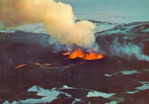ISLAND - Vulkan, volcanic eruption, Krafla / Kröflueldar, 1980