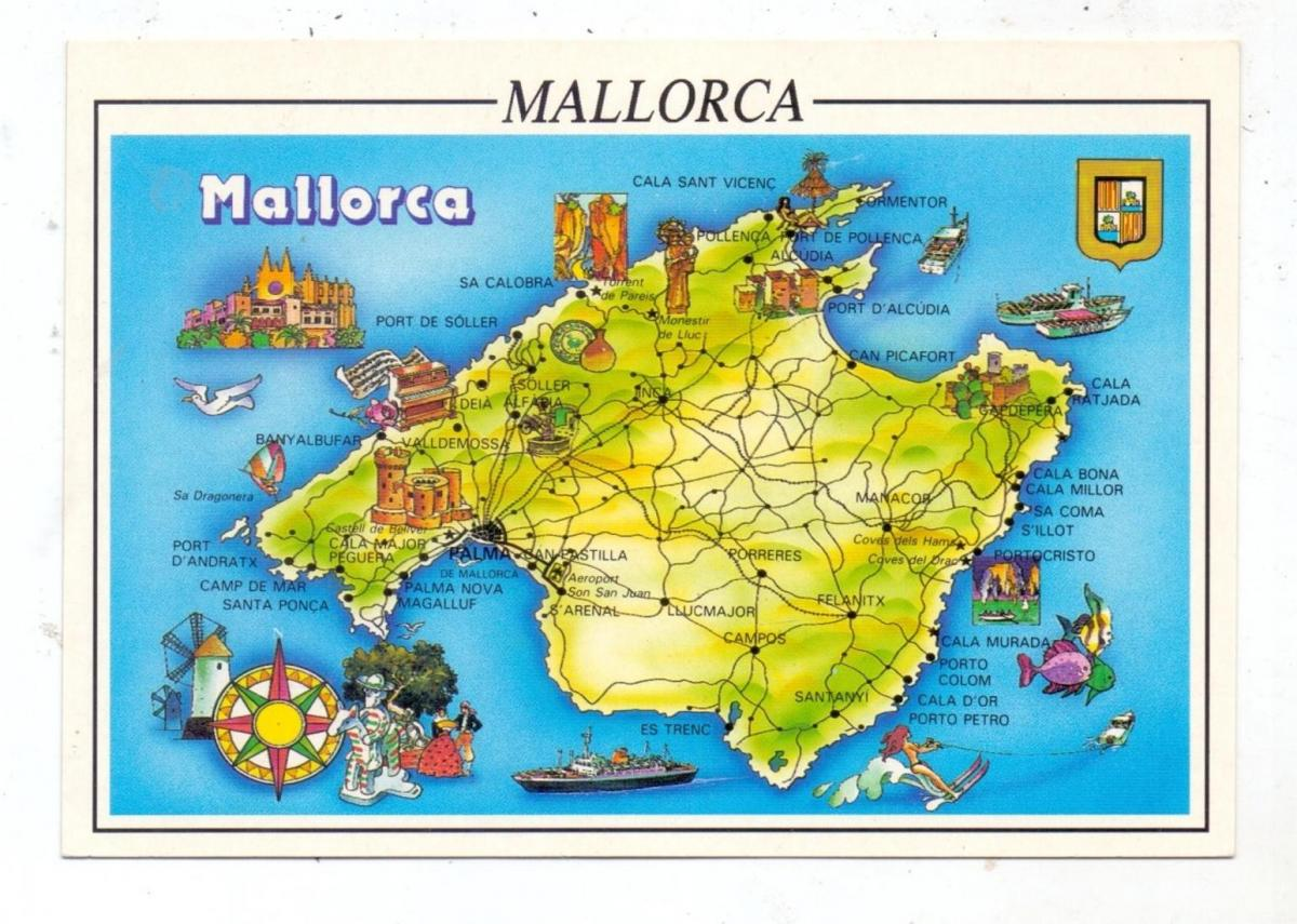LANDKARTEN / MAPS - MALLORCA 0