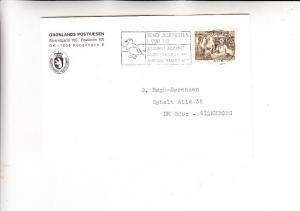 GRÖNLAND, 1980, Michel 123, Einzelfrankatur nach Dänemark