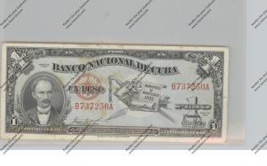 BANKNOTE - CUBA, Pick 86, 1 Peso, 1953, VF