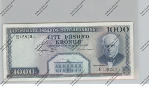 BANKNOTE - ISLAND, Pick 41, 1000 Kronur, 1957, UNC.