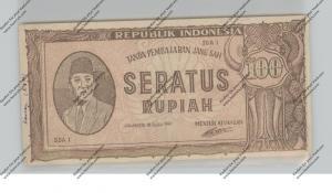 BANKNOTE - INDONESIA, Pick 29, 100 Rupiah 1947, VF