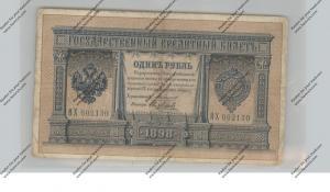 BANKNOTE - RUSSIA, Pick 1c, 1898, 1 Rubel