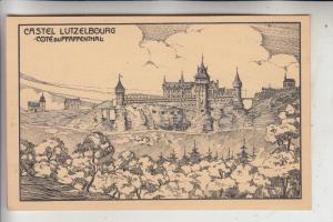 L 1000 LUXEMBURG Stadt, Cote du Grund, Castel Lutzelbourg, Künstler-Karte
