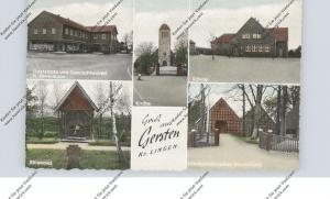 4540 LENGERICH - GERSTEN, Gaststätte Revermann, Schule, Kirche, Ehrenmal
