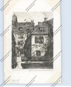 5300 BONN, BEETHOVEN - Haus, Gartenasicht, Künstler-Karte Carl Jander - Berlin, 1911