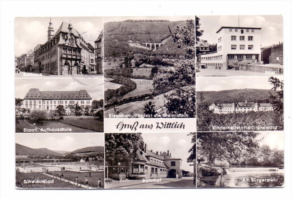5560 WITTLICH, Bahnhof, Post, Grünewald, Bürgerwehr