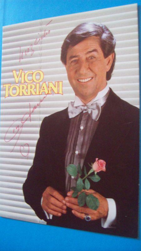 Autogramm - Karte von Vico Torriani mit original - Unterschrift !
