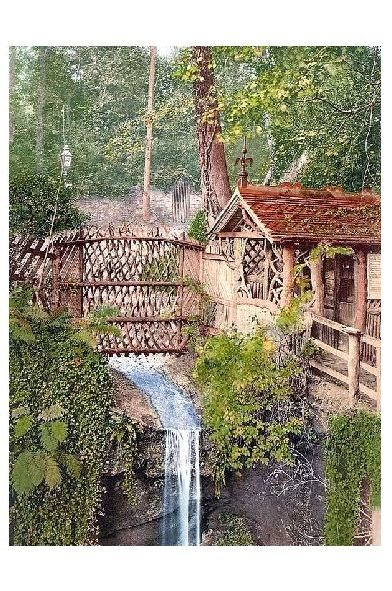Altes Photochrome-Farbfoto Mühle bei Shanklin auf der Insel Wight (Neudruck als Postkarte)