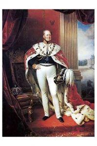 Altes Gemälde König Friedrich Wilhelm IV. von Preußen (Neudruck als Postkarte)