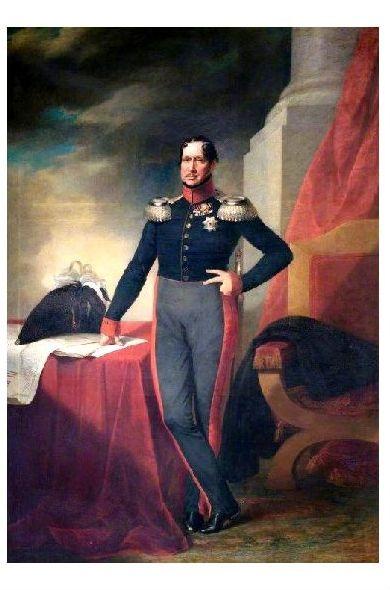 Altes Gemälde König Friedrich Wilhelm Iii Von Preußen Und Kurfürst