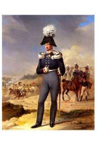 Altes Gemälde König Friedrich Wilhelm III. von Preußen und Kurfürst von Brandenburg (Neudruck als Postkarte)