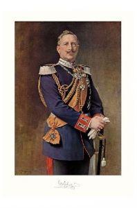 Altes Gemälde Kaiser Wilhelm II. von Deutschland und König von Preußen (Neudruck als Postkarte)