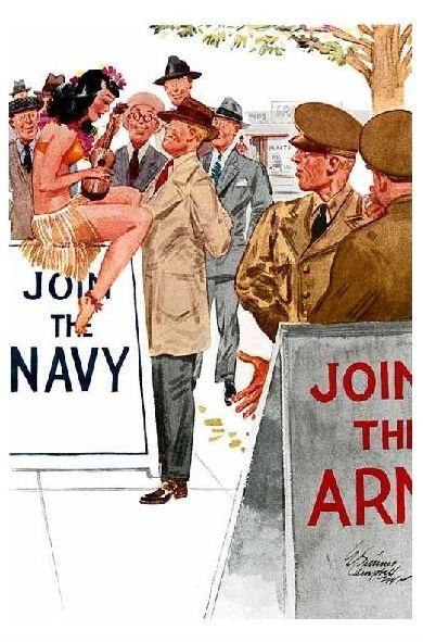 Propaganda 2. Weltkrieg USA Comic Ich denke, wir bieten nicht genug an (Neudruck als Postkarte)