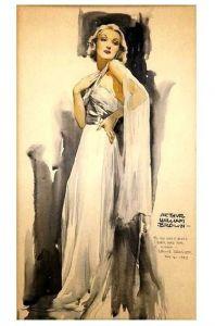 Alte Künstlerkarte Schauspielerin Greta Garbo (Neudruck als Postkarte)
