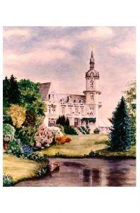 Alte Künstlerkarte Rittergut Fiedler in Hannover (Neudruck als Postkarte)