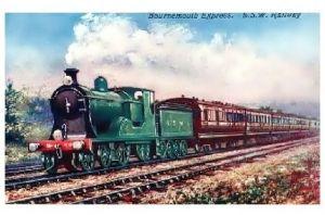 Alte Künstlerkarte Bournemouth Express (Neudruck als Postkarte)