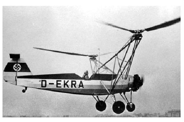 Altes Foto Hubschrauber Focke Wulf Fw 61 (Neudruck als Postkarte)