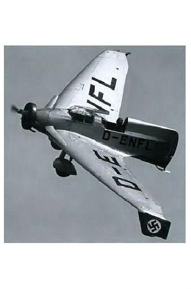 Altes Foto Prototyp Lippisch Delta IV im Flug (Neudruck als Postkarte)