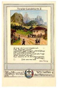 Alte Künstlerkarte Tiroler Landsturm II (Neudruck als Postkarte)
