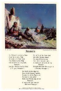 Alte Künstlerkarte 1. WK Soldatenlied Annemarie (Neudruck als Postkarte)