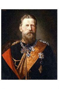 Altes Gemälde Kaiser Friedrich III. von Deutschland und König von Preußen (Neudruck als Postkarte)