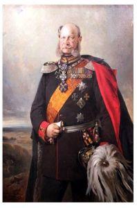 Altes Gemälde Kaiser Wilhelm I. von Deutschland und König von Preußen (Neudruck als Postkarte)