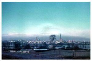 Altes Farbfoto Rostock - Dachpappenfabrik am Riekdahler Weg (Neudruck als Postkarte)