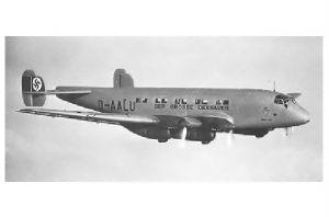 Altes Foto Junkers Ju 90 Der grosse Dessauer im Flug (Neudruck als Postkarte)