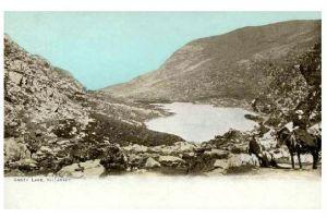 Alte Farbfoto-AK Anger Lake bei Killarney in Irland (Neudruck als Postkarte)