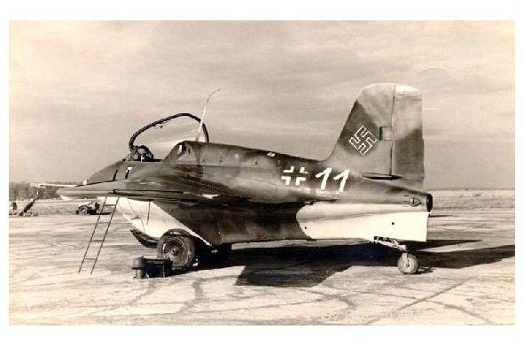 Altes Foto Raketenjäger Messerschmitt Me 163B \