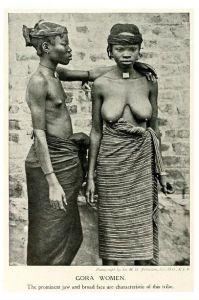 Altes Foto Zwei Frauen der Gora (Neudruck als Postkarte)