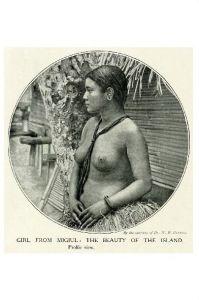 Altes Foto Junge Frau von Migiul (Neudruck als Postkarte)