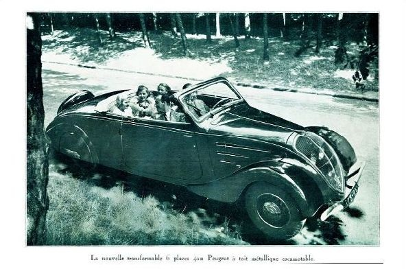 Altes Foto Werbung von Peugeot (Neudruck als Postkarte)