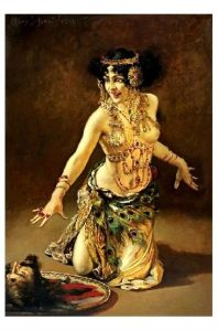 Altes Aktgemälde Schmutzler - Salome (Neudruck als Postkarte)