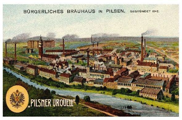 Alte Künstlerkarte Pilsner Urquell (Neudruck als Postkarte)