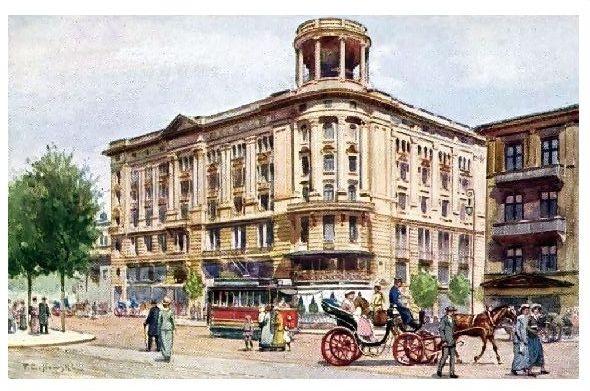 Alte Künstlerkarte Hotel Bristol in Warschau (Neudruck als Postkarte)