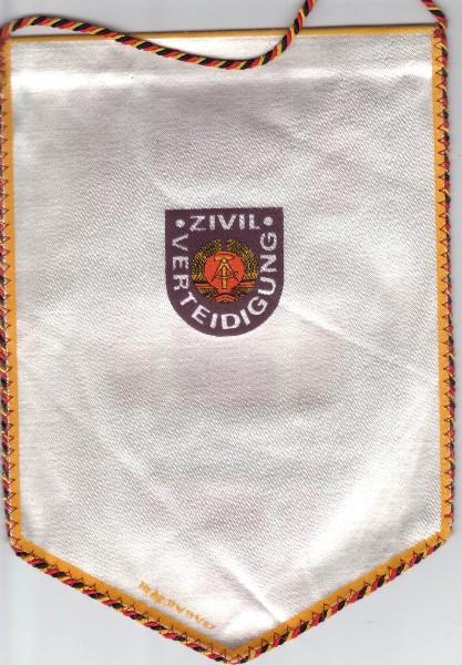 DDR Wimpel Zivilverteidigung Für aktive Arbeit und Leistungen