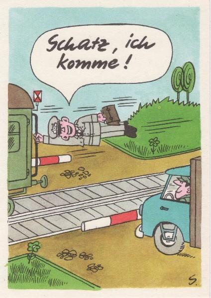 DDR NVA Postkarte Karikatur Urlaub