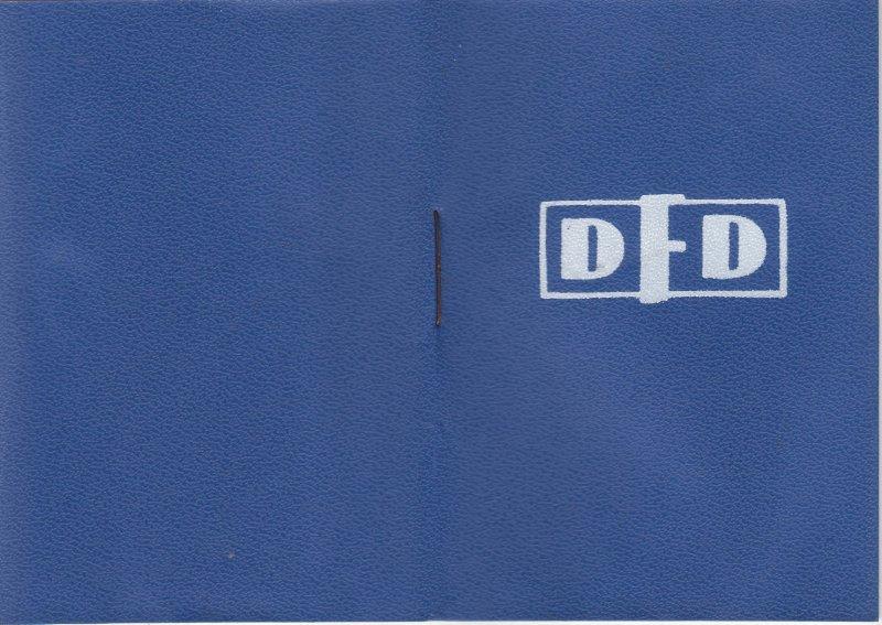 DDR Ausweis DFD Demokratischer Frauenbund Deutschlands blanko