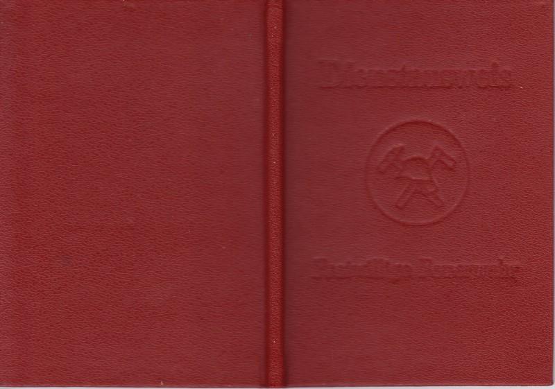 DDR Ausweis Freiwillige Feuerwehr Dienstbuch blanko