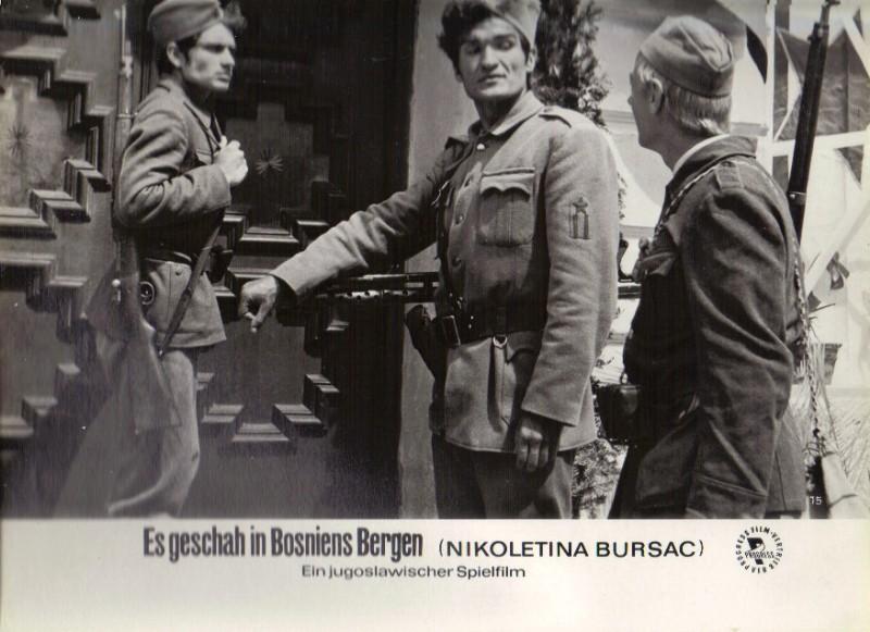 DDR DEFA Kino Aushangfotos Progress Filmverleih Es geschah in Bosniens Bergen P30